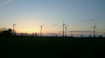 Wind turbines in Northern Germany