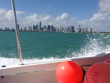 Miami skyline as we advance out into the Florida Keys