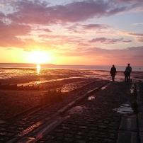 Sundown on Whitstable Bay, Kent, England