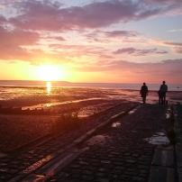 Sundown on Whitstable Bay, Kent, England