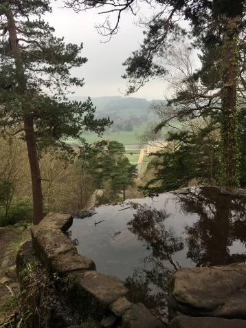 Stunning views overlooking the Chatsworth estate in Derbyshire, England